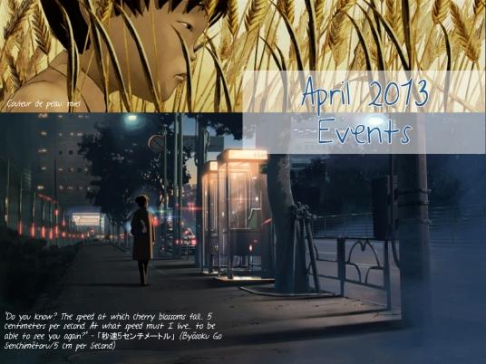 April 2013 Events
