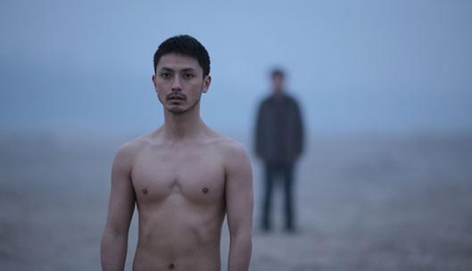 Strange man, naked.