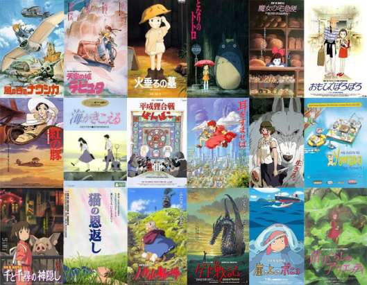 Ghibli posters, up to Arrietty (2011).