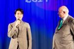 Bonus pic: Jung Woo-sung at the Closing Night Gala (with Tony Rayns)